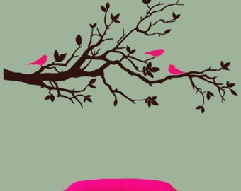 Wall Decor Decal Sticker Removable Vinyl tree branch 03
