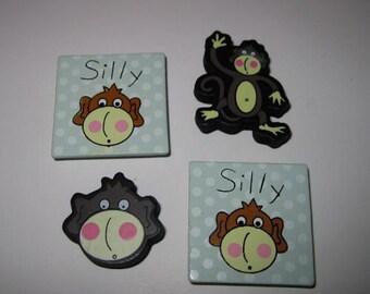Silly Monkey Fridgie Magnets School Office