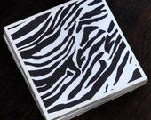 Zebra Print Coasters Set of 4