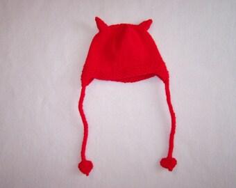 Red Devil Baby/Toddler/Child Hat