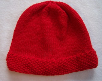 Red Wool Blend Cap