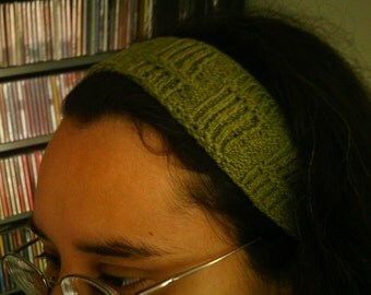 The Yoko- Green Bamboo Rib Knit Headband- Cotton Elastic Blend- Other Colors Available