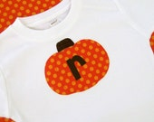 Pumpkin Shirt for boys - Personalized -  Short or Long Sleeve Shirt -  Great for  Halloween, Fall and Thanksgiving