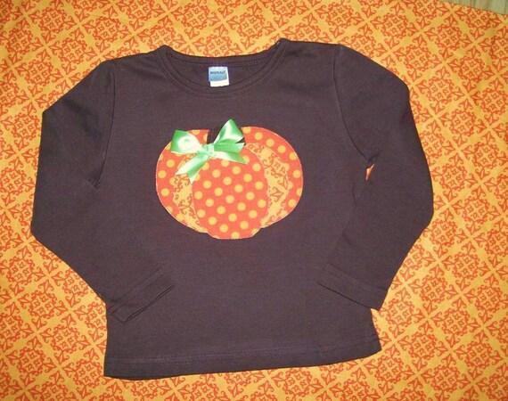 Pumpkin Shirt...  Brown Long or Short  Sleeve