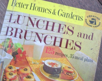 1963 Lunches and Brunches, Better Homes and Gardens Vintage Cookbook, Creative Cooking Library