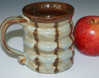 Ceramic Mug / Blue / Brown