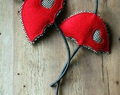 Red Umbrella Brooch Set Of Two