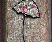 Floral Umbrella Brooch