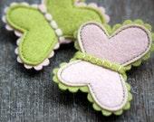 Mon Premier Bijoux Butterflies Hair Clips Set Of Two Little Girl's First Jewelry