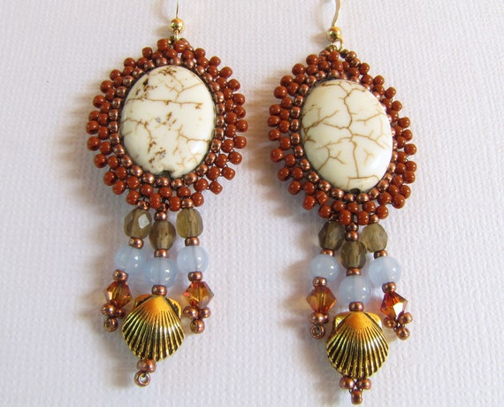 American Indian Inspired Beadwork Dangle Earrings