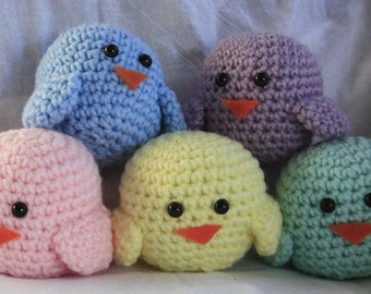 Crochet Birds (pastel colors)
