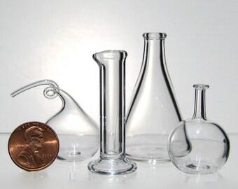 Chemistry Set, Miniature Hand Blown Glass