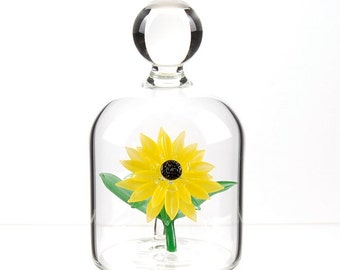 Glass Flower in a Jar - Sunflower