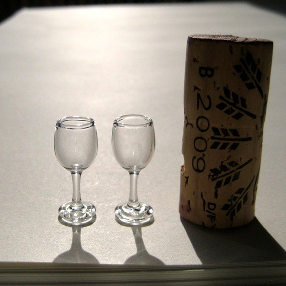 Miniature wine glasses hand blown glass - Hand blown champagne flutes ...