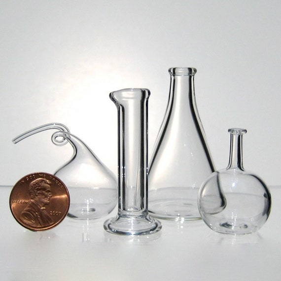 Chemistry Set, Miniature Hand Blown Glass
