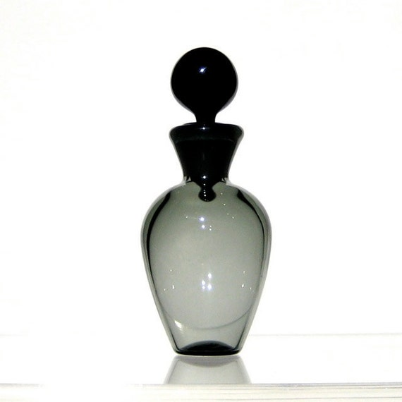 Miniature Bottle with Ground Glass Stopper, Olive Gray