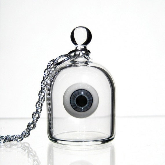 Eye in a Jar Necklace - Evil Eye Pendant
