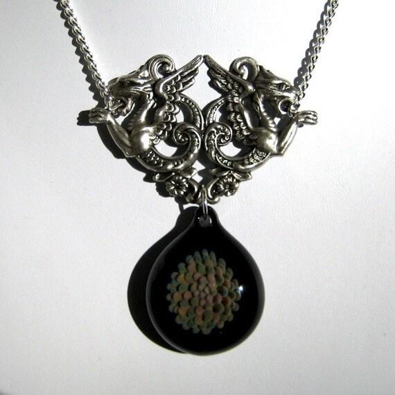Black Glass Pendant - Mythical Beast