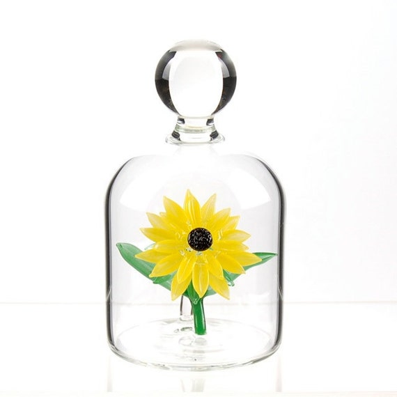 Glass Flower in a Jar - Sunflower