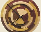Prism Clock with Yellowheart, Purpleheart, Maple and Walnut