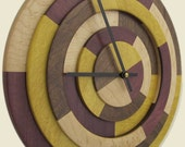 25% off Prism Clock with Yellowheart, Purpleheart, Maple and Walnut