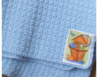 Noah's Ark - Blue Blanket