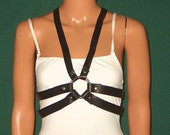 Gothic Maid Veleo Leather Harness, Steampunk, Victorian, Edwardian, Airship