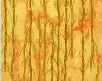 Serenity-golden yellow bamboo branches-nature fabric-Clothworks