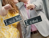 Chalkboard Hanging Signs Set of 2 Photo Booth Props, Reserved Chair Signs, Photography Signs Personalize for FREE