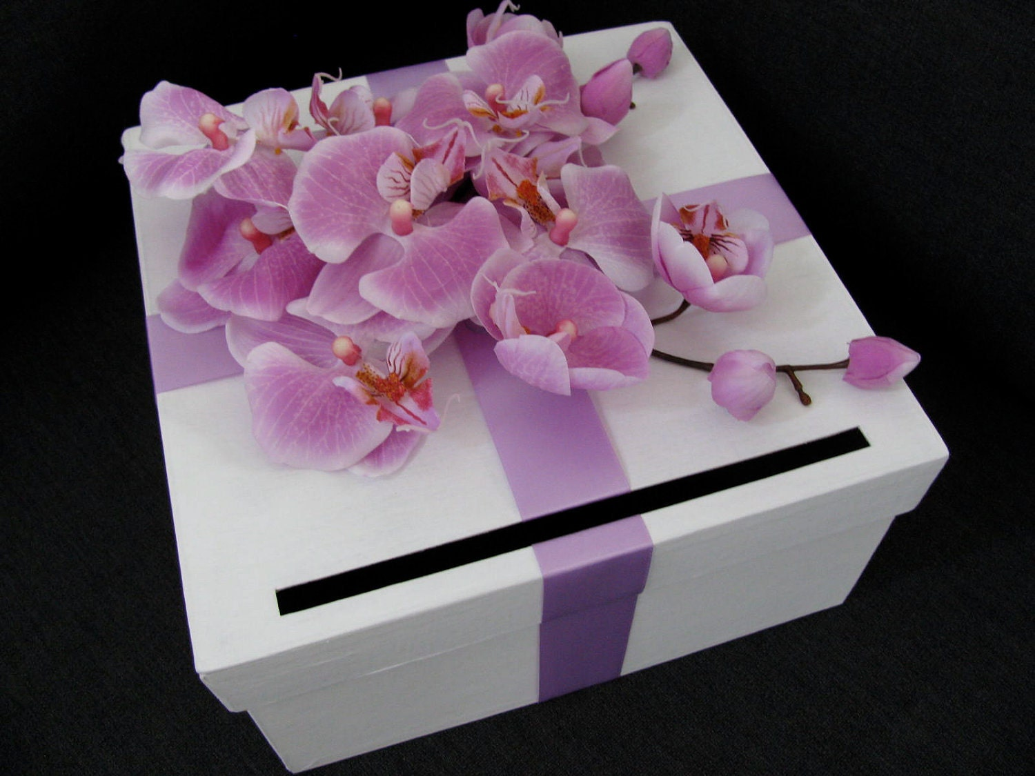 Hawaiian Wedding Gift Ideas: Wedding Card Box Tropical Hawaiian Beach Flair With Lavender