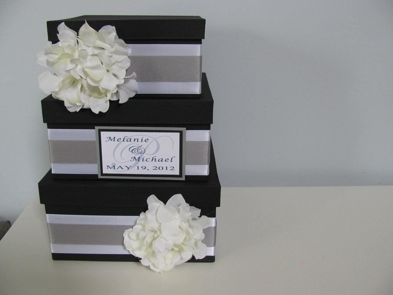 3 tiered Modern Wedding Card Box with by astylishdesign on