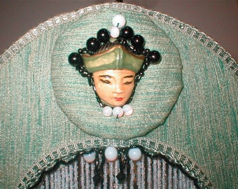 Millennial Girl - Vintage Components Form Functioning Lamp - Exotic Lady of Grace