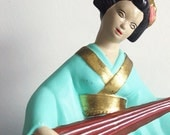 geisha figurine.  on sale. 60s ceramic.  made by jamar of california.