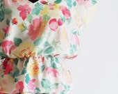 SALE / pastel floral dress / 80s vintage / pretty summer dress