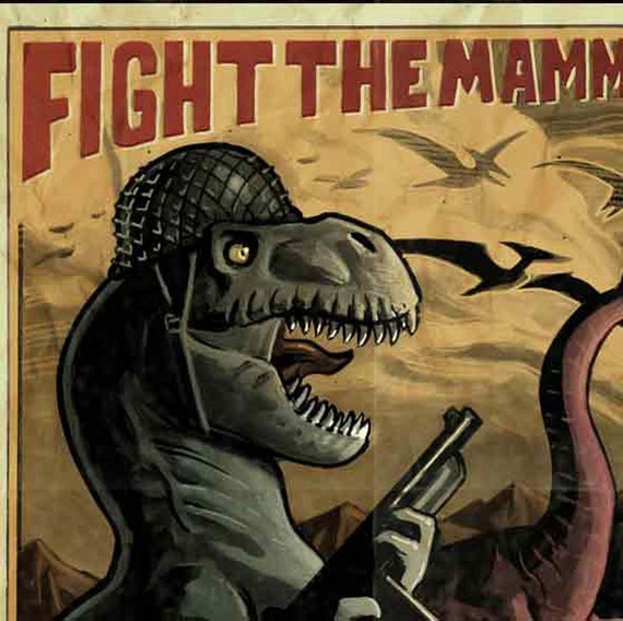 Fight the mammals poster. Get it from Etsy's BenjaminDewey.