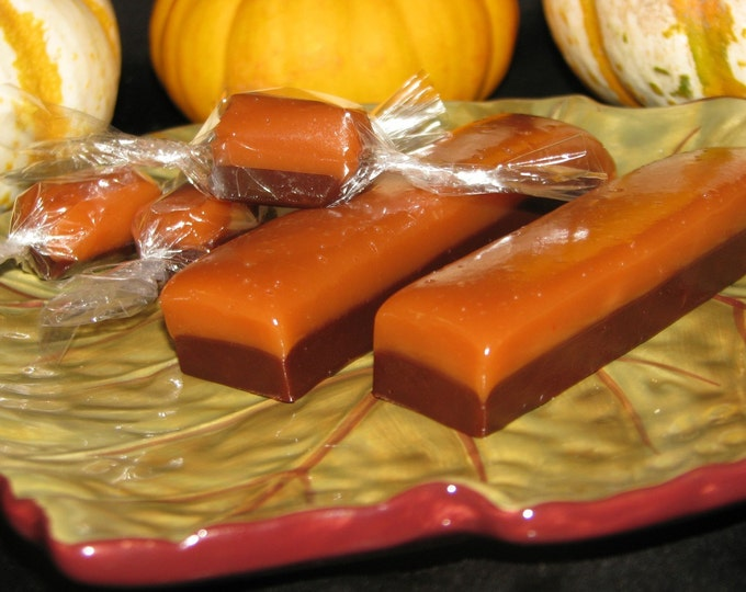 Heavenly Caramels - SALTED and CHOCOLATE CARAMELS in each bite - Sweet, salty and savory - Great for wedding, Bridal, Baby shower favors