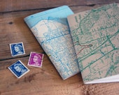 City Recycled Map Notebook