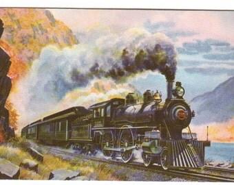 Empire State Express Railroad Train Howard Fogg postcard