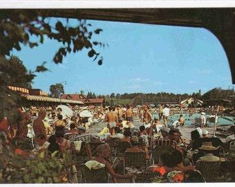Swimming Pool Grossinger New York postcard