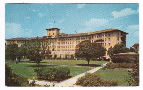 Ambassador Hotel Los Angeles California 1958 postcard
