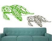 Momma & Baby Honu - Sea life nursery - Beach Baby- Hawaiian Sea Turtles Cruisin - Vinyl wall art graphic decals by 3rdaveshore Surf Art 10