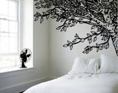 Amazing Headboard - Under an Oak Willow Tree - Nature Inspired - Vinyl wall art decals stickers by 3rdaveshore 97