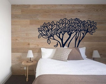 Organic Sleep Headboard - Under a Fall Tree - Nature Inspired - Vinyl wall art decals stickers by 3rdaveshore 57