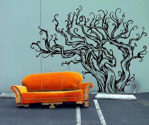 large tree template for wall - items similar to drift wood inspired very large tree decal