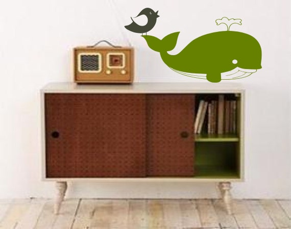 Why not a bird a whale - Enjoy The Ride - Surf Art-  Vinyl wall art graphic decals decor by 3rdaveshore 31