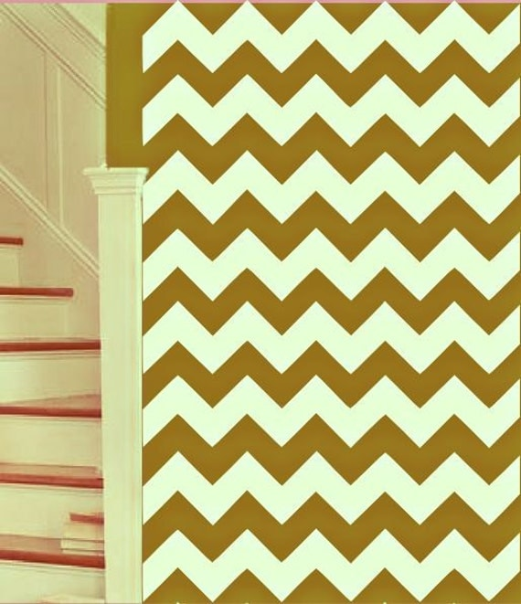 Amazing Chevron Zig Zag Stripes - Mix and Match colors - Mod Chic Zigzag Inspired - Vinyl wall art decals stickers by 3rdaveshore