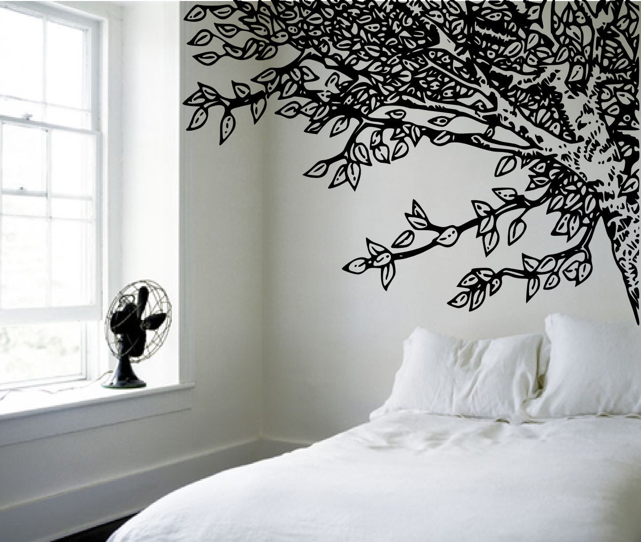 Amazing Headboard Under An Oak Willow Tree Nature By