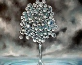 Storm tree - color photo print of original acrylic painting