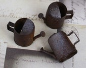 3 Rusty Antique Watering Can Charms
