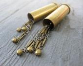 Bullet Casing Chain Earrings